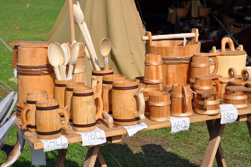 utensilios de cocina en madera