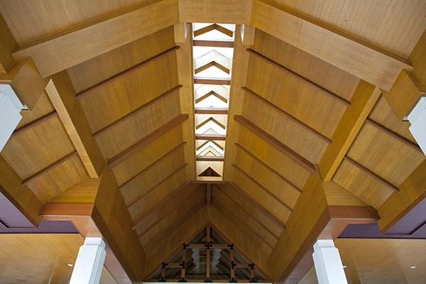 luz para techos de madera