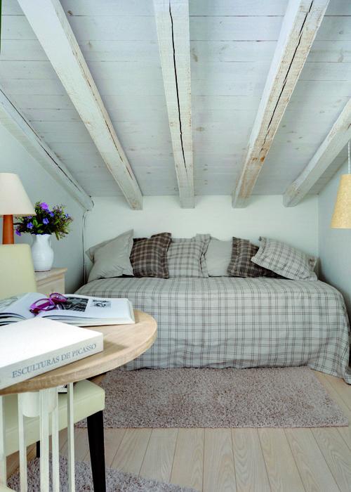 techos de madera blanco roto