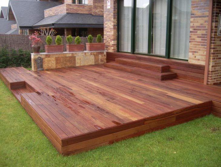 pisos de madera para jardines exteriores