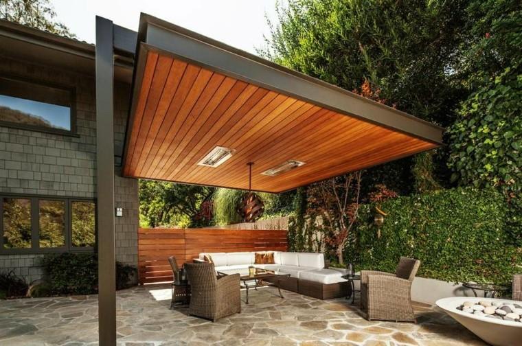techos de madera para patios