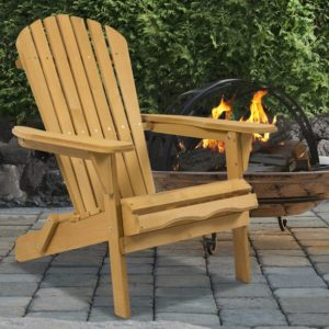 silla de madera de jardin