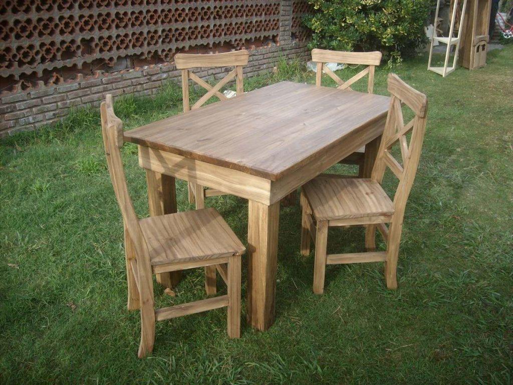 sillas de madera rusticas