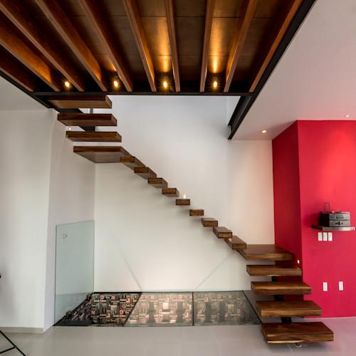 techos de madera modernos con iluminacion