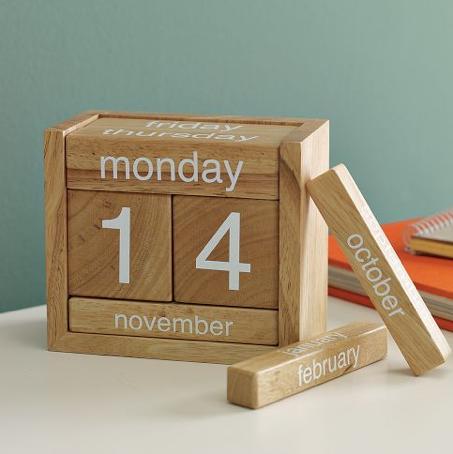 calendario madera perpetuo