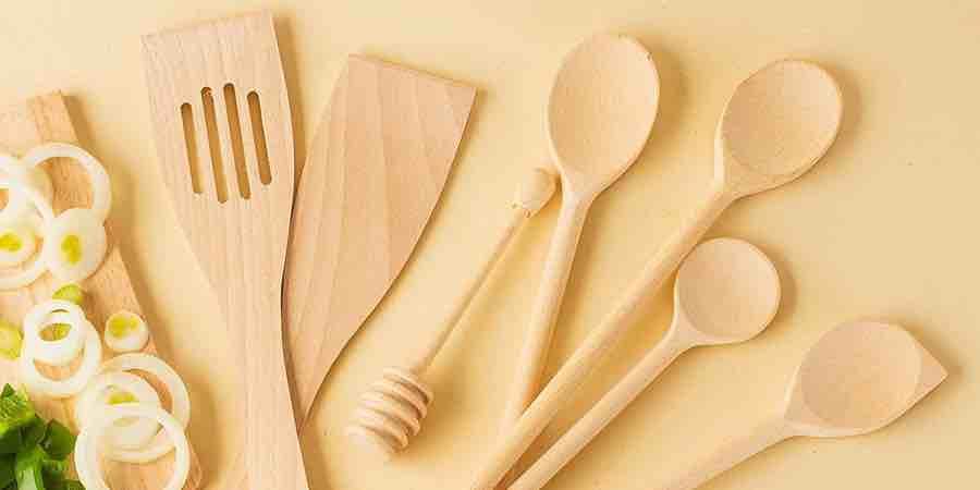 cucharas de madera desechables tenedor madera