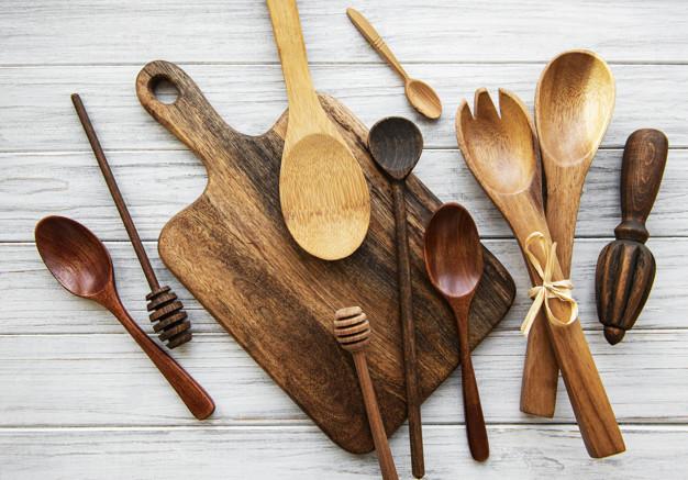cucharitas de madera descartables